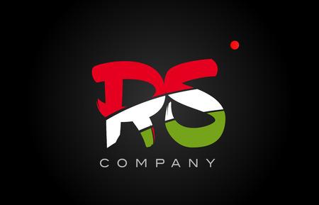 RS R S letter logo combination alphabet vector creative company icon design template modern