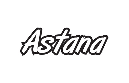 Logo text word typography design for European capital city Astana with black color on white background.