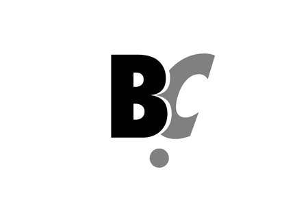 Creative icon of alphabet letter b and c design.