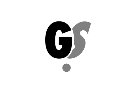creative logo icon combination of alphabet letter gs g s in black and grey isolated on white background with simple efficient design