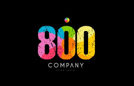 Number 800 icon design Illustration