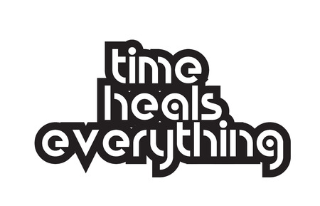 Inspiring quote time heals everything