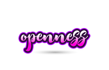 Calligraphy hand written pink  openness word text font in pink color and beautiful typography design Stok Fotoğraf - 87689231