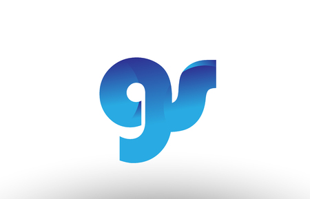 Design of alphabet letter logo combination gs g s with blue gradient color for a company or business
