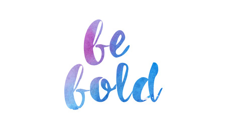 be bold beautiful watercolor text word expression typography design suitable for a logo banner t shirt or positive quote inspiration design 일러스트