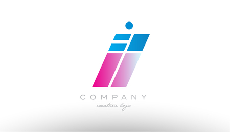 il i l alphabet letter combination in pink and blue color. Can be used as a logo for a company or business with initials