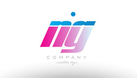 ng n g alphabet letter combination in pink and blue color. Can be used as a logo for a company or business with initials