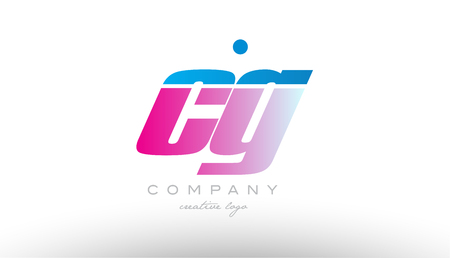cg c g alphabet letter combination in pink and blue color. Can be used as a logo for a company or business with initials