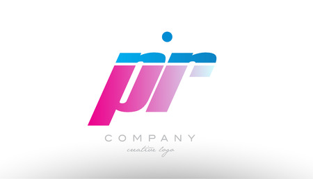 pr p r alphabet letter combination in pink and blue color. Can be used as a logo for a company or business with initials