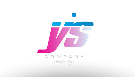 ys y s alphabet letter combination in pink and blue color. Can be used as a logo for a company or business with initials Illusztráció