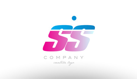 ss s s alphabet letter combination in pink and blue color. Can be used as a logo for a company or business with initials