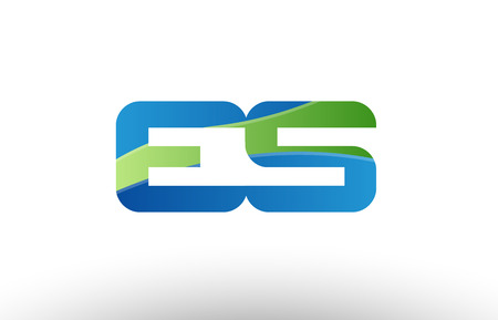 Design of alphabet letter logo combination es e s with blue green color suitable as a logo for a company or business