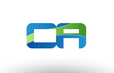 Design of alphabet letter logo combination ca c a with blue green color suitable as a logo for a company or business