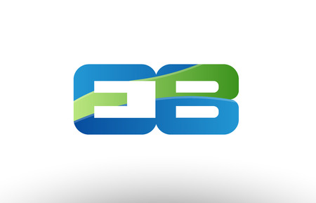 Design of alphabet letter logo combination eb e b with blue green color suitable as a logo for a company or business