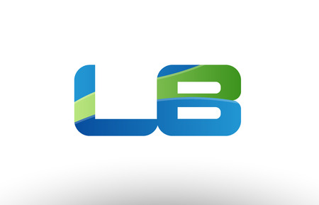 Design of alphabet letter logo combination lb l b with blue green color suitable as a logo for a company or business