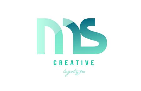 Progettazione della combinazione di logo lettera moderna alfabeto ms ms con colore sfumato pastello verde per una società o azienda Archivio Fotografico - 91556646