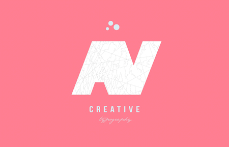 Design of alphabet letter logo av a v combination with pink color and intricate pattern suitable as an icon for a company or business Stock Vector - 94224571