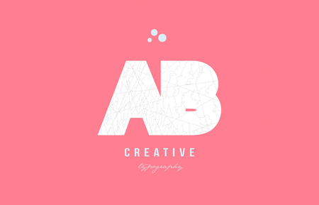 Design of alphabet letter logo ab a b combination