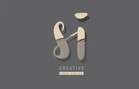 Design della combinazione di lettere dell'alfabeto si logo adatto come icona per un'azienda o impresa