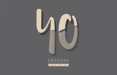 Design of alphabet letter combination yo  logo suitable as an icon for a company or business Illustration