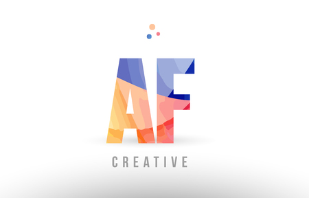 orange blue alphabet letter af a f logo combination design with dots suitable for a company or business Ilustração