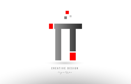 red grey alphabet letter tt t t logo combination design suitable for a company or business