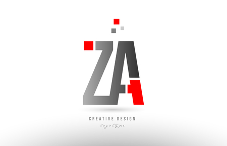 red grey alphabet letter za z a logo combination design suitable for a company or business