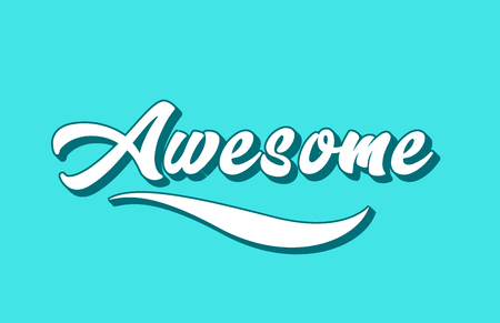 awesome hand written word text for typography design. Can be used for a logo, branding or card