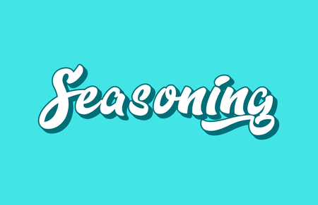 seasoning hand written word text for typography design. Can be used for a logo, branding or card