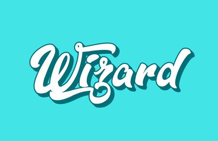 tovenaar handgeschreven woordtekst voor typografieontwerp. Te gebruiken voor een logo, huisstijl of kaart