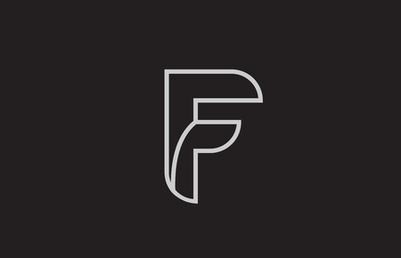 black and white alphabet letter f logo design suitable for a company or business Logó