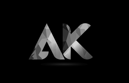 Black And White Alphabet Letter Ak A K Logo Combination Design Royalty Free Cliparts Vectors And Stock Illustration Image 108963820