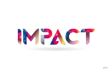impact colored rainbow word text suitable for card, brochure or typography logo design