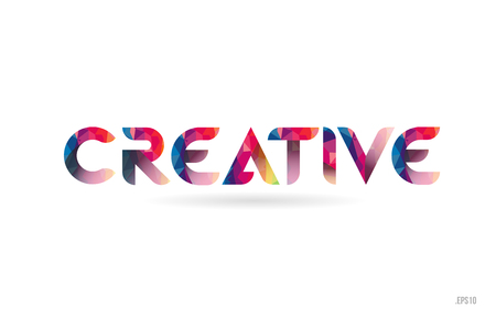 creative colored rainbow word text suitable for card, brochure or typography logo design Illusztráció