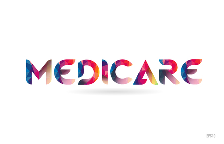 medicare colored rainbow word text suitable for card, brochure or typography logo design Logo