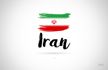 iran country flag concept with grunge design suitable for a logo icon design