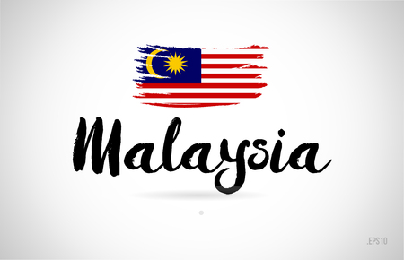 malaysia country flag concept with grunge design suitable for a logo icon design