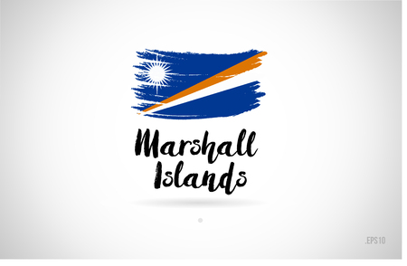 marshall islands country flag concept with grunge design suitable for a logo icon design