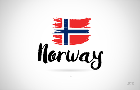 norway country flag concept with grunge design suitable for a logo icon design