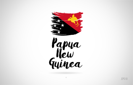 papua new guinea country flag concept with grunge design suitable for a logo icon design