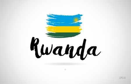 rwanda country flag concept with grunge design suitable for a logo icon design