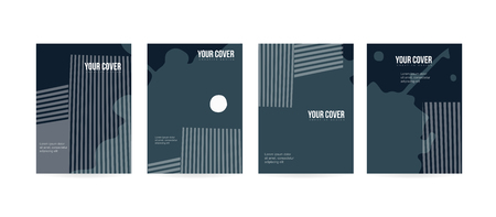 Minimal cover concept for brochure or card design. Simple and elegant with a modern look. Eps10 vector
