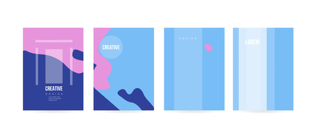 Minimal cover concept for brochure or card design. Simple and elegant with a modern look. Eps10 vector Stock Vector - 109286715
