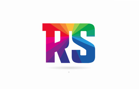 alphabet letter rs r s logo combination design with rainbow colors suitable for a company or business Logó
