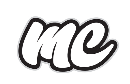 Design of black and white alphabet letter combination mc m c suitable as a logo for a company or business