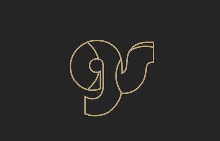 black and yellow gold alphabet letter gs g s logo combination design suitable for a company or business Illusztráció