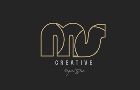 black and yellow gold alphabet letter ms m s logo combination design suitable for a company or business