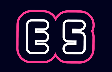 pink white blue alphabet combination letter es e s logo design suitable for a company or business