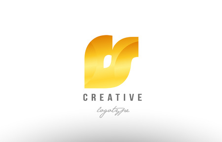 Design of alphabet letter logo combination rs r s with gold golden metal gradient color for a company or business Logo