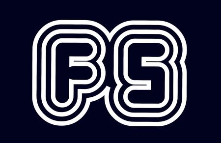 black and white alphabet letter fs f s logo combination design suitable for a company or business Ilustração
